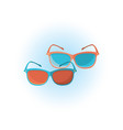 sunglasses object isolated on white vector image vector image