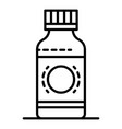 syrup bottle icon outline style vector image vector image