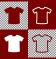 t-shirt sign bordo and white icons and vector image vector image