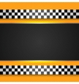 taxi cab blank template vector image vector image
