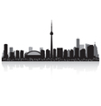 Toronto Canada city skyline silhouette vector image vector image