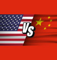 trade war concept american versus china usa and vector image vector image