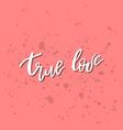 true love - inspirational valentines day romantic vector image vector image