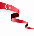 turkish flag wavy abstract background vector image