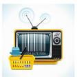 tv shop xxl icon vector image vector image
