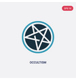 two color occultism icon from religion concept vector image vector image