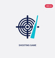 two color shooting game icon from entertainment vector image vector image