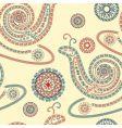 vector seamless snail ornament vector image vector image