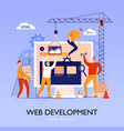 web construction site background vector image vector image