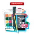 Web Development Concept vector image vector image
