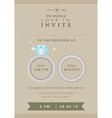 Wedding invitation wedding ring theme vector image vector image