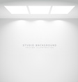 white studio lights background vector image vector image