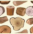 wood stumps set pattern vector image vector image