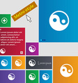 Ying yang icon sign Metro style buttons Modern vector image