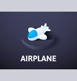 airplane isometric icon isolated on color vector image