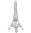 hand drawn eiffel tower vector image
