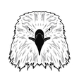 logo depicting the head of an eagle vector image