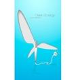 green energy wind turbines vector image
