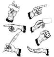 hand gestures vector image