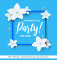 8 of march women day card or banner template vector image vector image