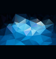 abstract irregular polygonal background blue black vector image vector image