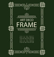 art deco frame template vector image vector image