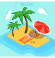 Beach Vacation Summer Time Tropical Vacation vector image vector image