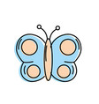 beauty butterfly animal with wings vector image