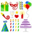 birthday elements vector image vector image
