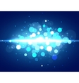 Blue bokeh Magic bokeh background with light vector image vector image