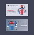 car service business card design vector image