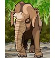cartoon winking big elephant in the jungle vector image vector image