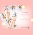 cherry blossom spray cosmetics realistic vector image vector image