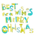 christmas greetings decorative lettering vector image