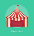 circus tent poster striped awning for performances vector image vector image