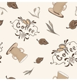 Coffe Pattern in Sketch Style vector image vector image