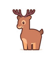 cute little deer cartoon comic character vector image vector image
