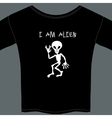 Cute little extraterrestrial alien on a t-shirt vector image vector image