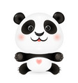 cute lovely panda baby vector image