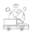 delivery tracking service shipping logistic vector image