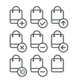 Different shopping icons set with rounde vector image vector image