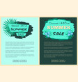 discount 25 and 45 percent summer sale promotion vector image vector image