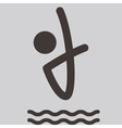 Diving icon vector image