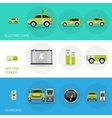 Electric Car Banners vector image