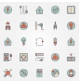 Electricity colorful icons vector image vector image