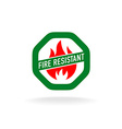 Fire resistant icon vector image vector image
