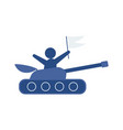 flat hand-drawn cartoon tank vector image vector image