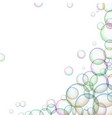 frame with multicolored soap bubbles vector image vector image