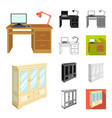 furniture and interior cartoonblackflat vector image