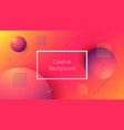 futuristic background with dynamic shapes vector image